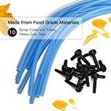 Maple Syrup Tree Tapping Kit 10 Taps JACKYLED 3.28ft Food Grade Syrup Collection Tubes And Heavy Duty Taps
