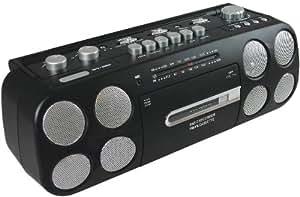 CMX CRC 7140 - Reproductor de música portátil (entrada auxiliar para micrófono, puerto USB 2.0), color negro (importado)