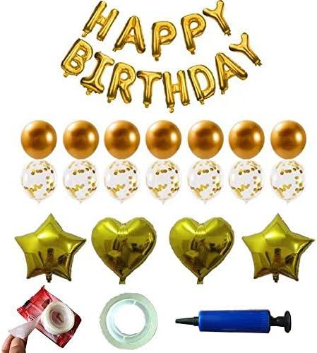 Dr.Kurand 風船 誕生日 飾り付け セット バルーン 風船 (34点セット)HAPPY BIRTHDAY 装飾 バースデー ガーランド バースデー パーティー 男女の子 (メタルカラー)