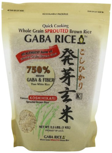Koshihikari Premium Sprouted Brown Gaba Rice, 2.2-Pound Pouches (Pack of 2) (Best Short Grain Brown Rice)