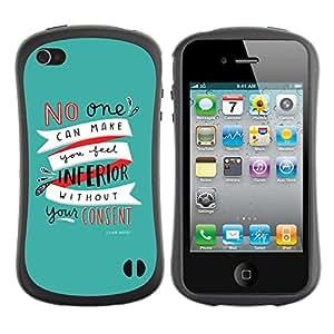 """Pulsar iFace Series Tpu silicona Carcasa Funda Case para Apple iPhone 4 / iPhone 4S , Texto del trullo de motivación inspiradora Autoayuda"""""""