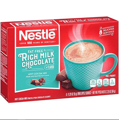Nestle Hot Cocoa Mix, Fat Free, 8-count Envelopes (Pack of 6) ()