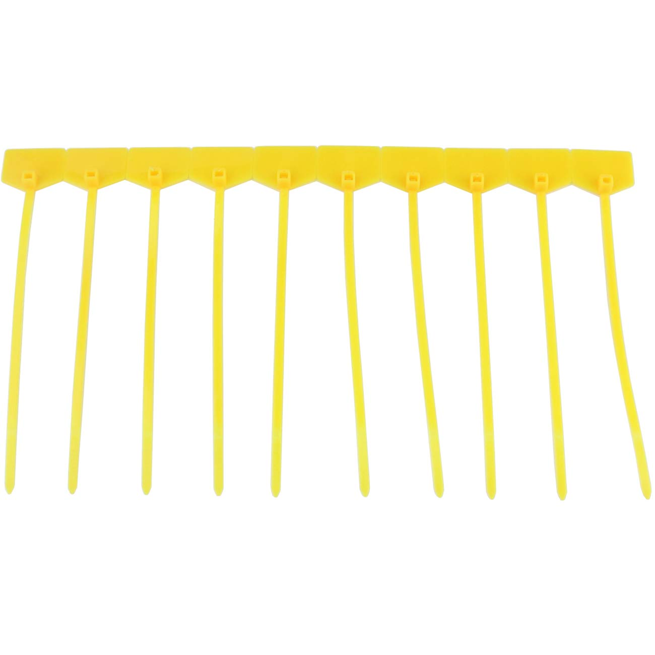 Ogrmar 100pcs Cable Label Mark Tag Ethernet Wire Zip Ties Cable with Marking Label Yellow