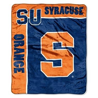 NCAA Syracuse Orange 50-Inch-by-60-Inch Raschel Plush Throw  School Spirit  Design