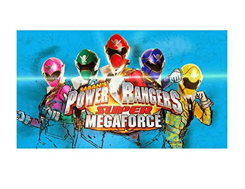 (Power Rangers Super Mega Force Image Photo Cake Topper Sheet Birthday Party - 1/4 Sheet - 79797)