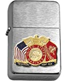 US Marine Corps These Colors Don't Run Brushed Chrome Lighter
