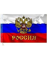 Vaandel vlaggen Rusland wapen met adelaar 150x90cm B