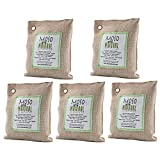 #8: Moso Natural 5 Pack 200 gm Air Purifying Bag Deodorizer. Odor Eliminator for Cars, Closets, Bathrooms and Pet Areas. Absorbs and Eliminates Odors. Natural Color