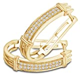 10K White and Yellow Two Tone Gold Micro Pave Set