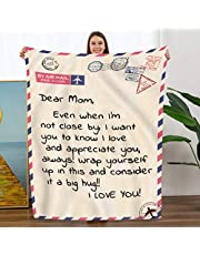 Personalized Flannel Blanket to Mom from Daughter Son Gift-Christmas Birthday Presents Flannel Velvet Plush Solid Bed Blanket Healing Thoughts Throws (to My Mom, from Dauhhter Son)