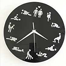 ufengke® 3D Sex Acrylic Wall Clock Fashion Design Art Decals Creative Home Decoration Black