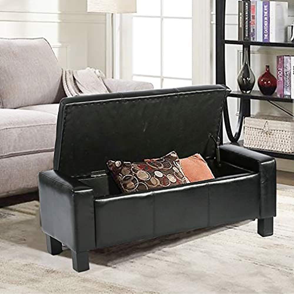 Details about Storage Ottoman Bench Bed Bedroom Seat Footstool With Leather  Tufted Upholstered
