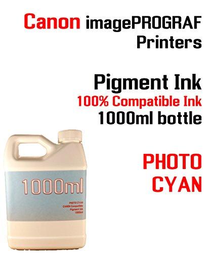 (Photo Cyan Pigment Ink 1000ml - CANON imagePROGRAF iPF6300, iPF6350, iPF6400, iPF6410, iPF6450, iPF6460, iPF8300, iPF8400, iPF8410, iPF9300, iPF9400, iPF9410 - 100% compatible bottle ink)
