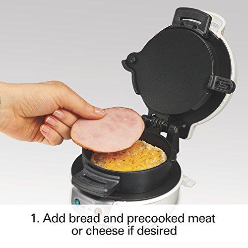Proctor Silex 25479 Breakfast Sandwich Maker, White by Proctor Silex (Image #1)