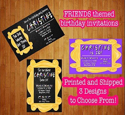 Amazon Set Of 12 Friends TV Show Birthday Invitations The One