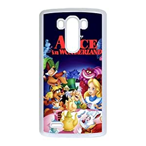 LG G3 Cell Phone Case White Alice in Wonderland Character Alice EG6539255
