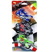 Kim'Play 4520 - Véhicule Miniature - 3 X Moto De Course