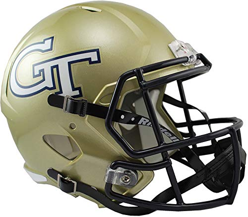 Sports Memorabilia Riddell Georgia Tech Yellow Jackets Revolution Speed Full-Size Replica Football Helmet - College Replica Helmets
