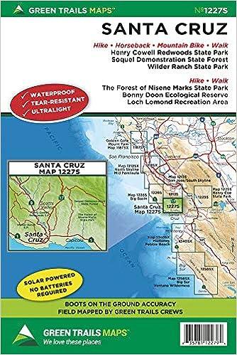 santa cruz area map Buy Santa Cruz Ca Map Green Trails Maps Book Online At Low santa cruz area map