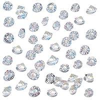 HansGo Fake Diamonds for Decoration, 500PCS Clear Glass Crystal Diamond 10mm Crystal Gems