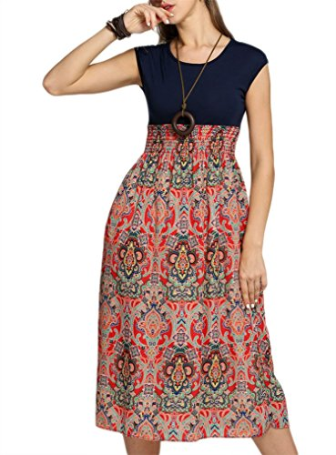 Juniors Sleeveless Bohemian Contrast Printed
