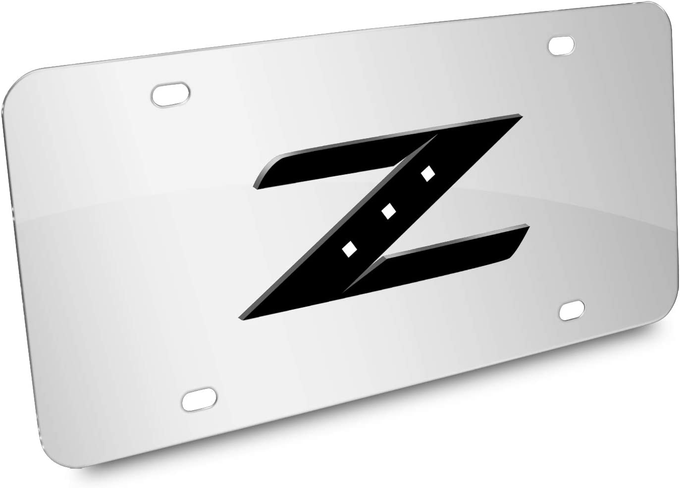 Licensed Black License Plate AUGD8079 Laser Etched for Nissan 350Z