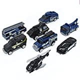 VANTIYA Police Car Toy (5 PCS) Police Pickup Truck, Push Car Toys for Boys Birthday Gift,Vehicle Gift Set