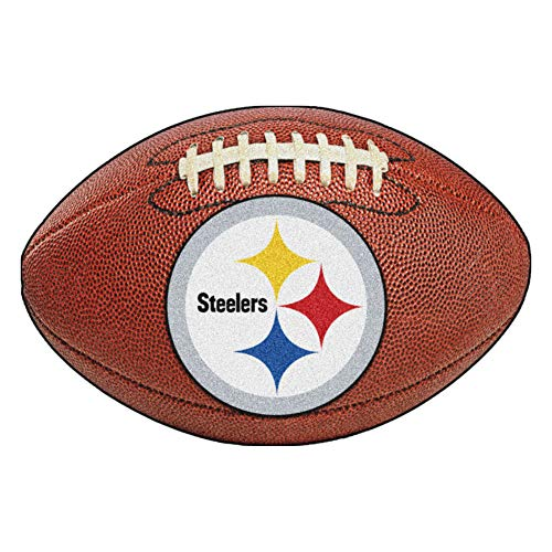 (FANMATS NFL Pittsburgh Steelers Nylon Face Football Rug)