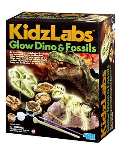 4M KidzLabs Glow Dino and Fossils Science Kit by 4M