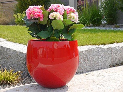 YOKO - Pflanzkübel Blumenkübel Fiberglas, 55x55x55cm ...