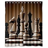 "cool Chessboard pattern,classic international chess art decor 100% Polyester Shower Curtain (60"" wide x 72"" long)"