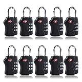 10 Pcs 3 Digit Combination Resettable TSA Travel Lock Luggage Suitcase Padlock Most Watched