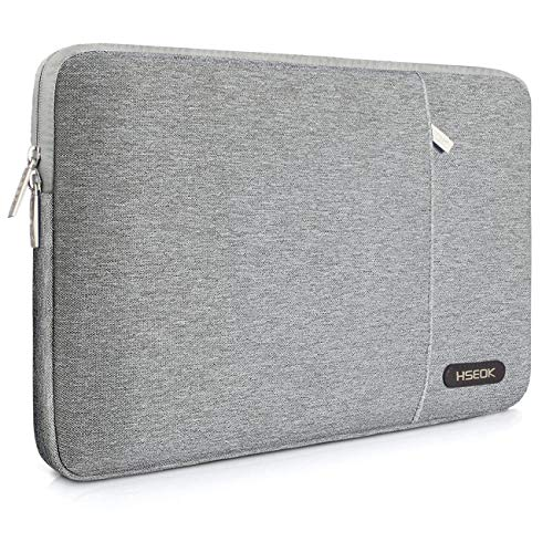 HSEOK 15.6-Inch Laptop Case Sleeve, Compatible with Most 15.6-Inch Laptop Dell/Asus / Acer/HP / Toshiba/Lenovo, Environmental-Friendly Spill-Resistant Case- Gray