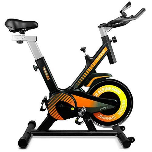 🥇 gridinlux. Trainer Alpine 6000. Bicicleta Spinning Pro Indoor. Volante de Inercia 10 kg