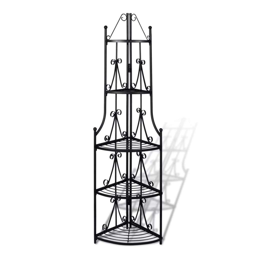 Youwend Corner Plant Rack Black 14.2''x23.6'' by Youwend