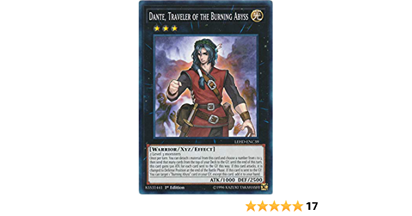 Dante LEHD-ENC39 Traveler of the Burning Abyss - Common 1st Edition NM