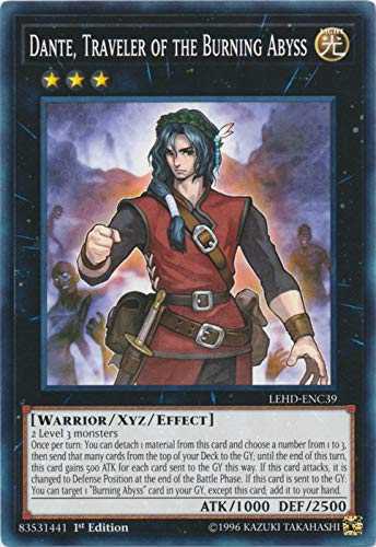 Yu-Gi-Oh! - Dante, Traveler of The Burning Abyss - LEHD-ENC39 - Common - 1st Edition - Legendary Hero Decks - Phantom Knights Deck