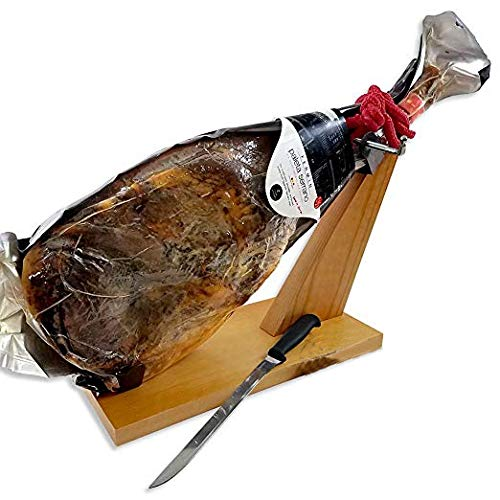 - Serrano Ham (shoulder) Bone in from Spain 10 - 12 lb / FREE HAM HOLDER & Knife