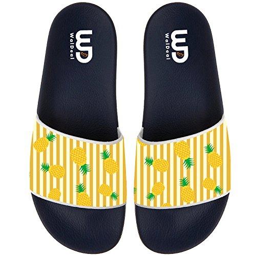 afaf269b3 Pineapple Summer Non-slip Slide Sandals Home Shoes Beach Swim Indoor and  Outdoor Slipper Women