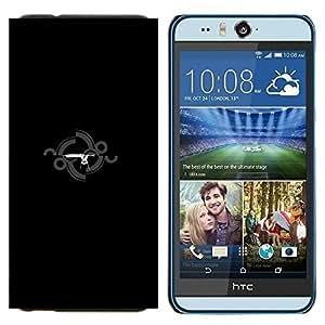 EJOOY---Cubierta de la caja de protección para la piel dura ** HTC Desire Eye M910x ** --Estación del arma