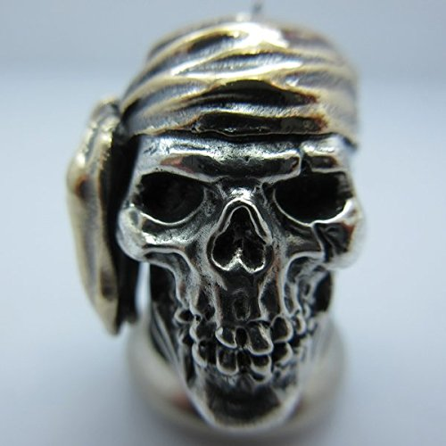 Pirate Paracord / Lanyard Bead in .925 Sterling Silver & Bronze by GD Skulls by Jig Pro Shop