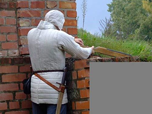 uniquewonderitems Medieval Gambeson Reenactment Roman Fancy Design Best Gray Color Arming