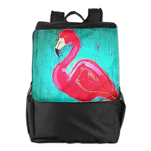 Travel Elegant Shoulder Adjustable Flamingo Backpack Outdoors School Storage Camping Women Personalized Men Dayback for Strap HSVCUY and RqYzty