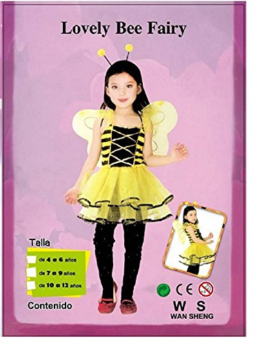 [Lovely Bee Fairy Costume for Girls] (Bee Wings Halloween Costume)