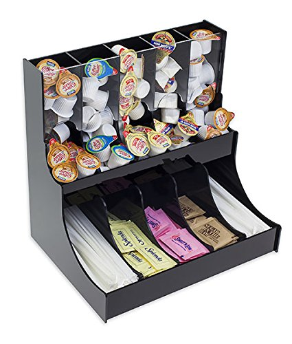 Deluxe Creamer - Source One Deluxe Condiment Organizer 10 Compartments Holder - Space Saver