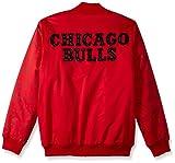 STARTER Adult Men NBA Varsity Bomber Jacket Chicago Bulls, Small, Red