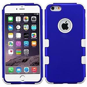 MyBat iPhone 6 Plus TUFF híbrido de teléfono carcasa del protector - empaquetado al por menor - azul / blanco