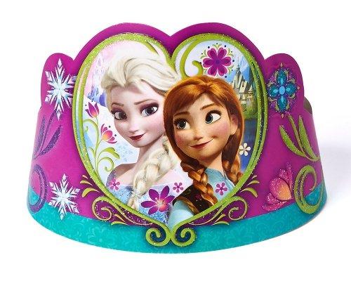Disney Frozen 'Elsa & Anna' 8 Pack Tiara Cardboard Party Accessories