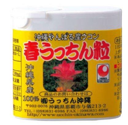 【春ウコン】 春うっちん粒 携帯用120粒入×50P うっちん沖縄 高品質なウコンを使用 クルクミンや精油成分豊富 のみやすい錠剤タイプ B00GDVU0CI   50P