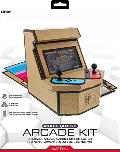 Nyko PixelQuest Arcade Kit - Constructible Arcade Kit with Customizable Pixel Art Sticker Kit and Arcade Stick Toppers… 4